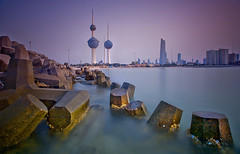 water breaker (mhels_13) Tags: sunset seascape kuwait kuwaittower waterbreaker ramilsunga