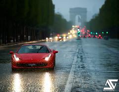 Rainy day (A.G. Photographe) Tags: paris france french nikon arch champs elyses ferrari ag triumph nikkor fx arcdetriomphe 70200 kb parisian anto d800 parisienne xiii parisien vrii rossocorsa f458 antoxiii photoengine oloneo agphotographe hdrengine kbrossocorsadayvii