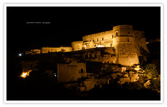 Nocturnal (iSalv) Tags: italy castle night canon landscape eos italia imac nocturnal ps luci castello notte paesaggio sud autoscatto lightroom notturno meridione massafra 1000d