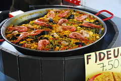 Good food (Let Ideas Compete) Tags: sea vacation food france vegetables fruit french yummy mediterranean yum dish rice market outdoor traditional shrimp prawns delta rhne fresh delicious southern spanish peas provence clams paella arles goodfood 2012 nutritious palla frenchfood fideu foodinfrance paelladefideos fideu
