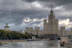 Soviet Gaudiness (xeno.odem) Tags: sky building architecture clouds russia moscow hdr diamondclassphotographer flickrdiamond platinumheartaward 100commentgroup