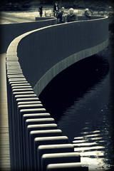 Kew - Bridge (Rednaxela13) Tags: people bw kewgardens monochrome kew canon eos mono objects manmade tamron botanicalgardens royalbotanicalgardens alexhughes 60d canoneos60d tamron70300mmvc ©alexhughes alexanderhughes