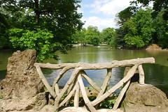 Rambarde en bton rustique et le lac -Concrete railing and rustic , Lake (Flikkesteph) Tags: park wood trees brussels lake nature