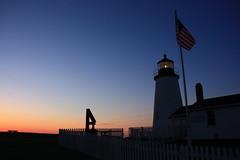 Daybreak (mjlmadison) Tags: blue sky lighthouse sunrise dawn maine pemaquid