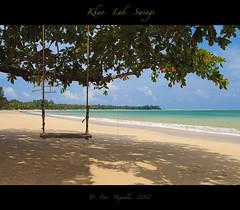 Khao Lak Swings. (Pete 5D......) Tags: blue sea tree beach thailand asia paradise swing shade tropical cape remote rule khao lak thirds pak andaman weeb ruleofthirds idillic pakarang ef2470f28lusm pakweeb pakweebbeach canon5dmarkii mygearandme mygearandmepremium mygearandmebronze pakweepbeach