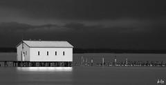 Lake shed , explored (Dennis Cluth) Tags: lake art bay nikon long exposure michigan shed anchor d90