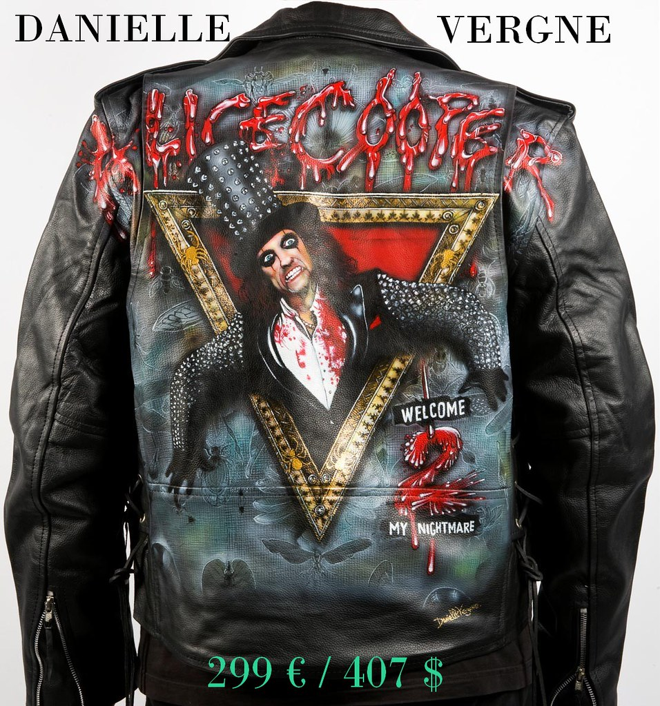 Painting a leather jacket