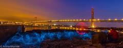 ForthBridgesCrewOrbFest (AdrianMaricic) Tags: road bridge light wool painting wire steel orb rail el estuary forth poi orbs estuarine