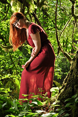 Lady of the Jungle (Trevor Ducken) Tags: trees portrait people woman green female forest outdoors person glasses washington spring model nikon dress photoshoot may redhead jungle pacificnorthwest wa preston 2012 d90 sb700 sierramckenzie 880923