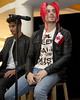 Siva Kaneswaran and Max George 'The Wanted' acoustic performance & autograph session at the Bramalea City Centre Mall hosted presented by HMV Canada. Toronto, Canada
