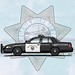 Drawing Ford Crown Victoria California Highway Patrol (Lightbar)