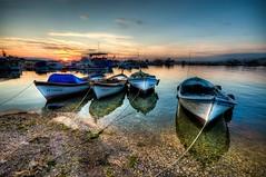 Boats of Izmir (Nejdet Duzen) Tags: trip travel sunset sea turkey boat turkiye deniz sandal izmir turkei seyahat inciralt gnbarm