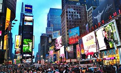 New York, Times Square (Arutemu) Tags: street city nyc newyorkcity travel urban panorama usa ny newyork night evening us cityscape view nightscape manhattan scenic scene midtown nighttime timessquare citylights scenes hdr nuevayork  americain