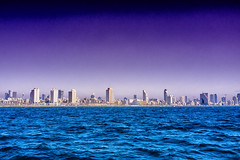 Tel Aviv Skyline (Mixmaster) Tags: city water skyline israel telaviv asia cityscape middleeast boating