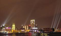Symphony of Lights, Victoria Harbour, Hong Kong (MikePScott) Tags: china camera sea night skyscraper buildings lens hongkong boat kowloon lightshow southchinasea hongkongisland victoriaharbour builtenvironment symphonyoflights nikond300 tokina1116mmf28 featureslandmarks