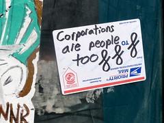 Corporations are people too (-Curly-) Tags: streetart art graffiti sticker stickerart curly