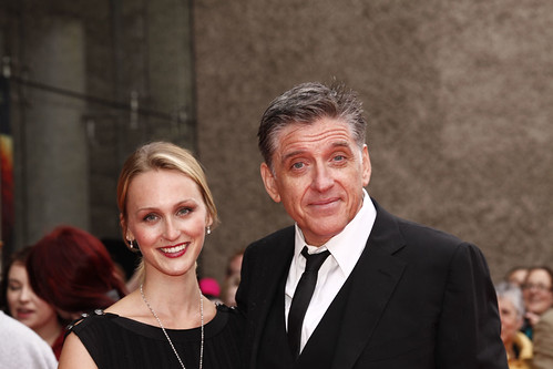 Craig Ferguson and Megan Wallace-Cunningham  on the red carpet for the European premiere of Brave at the Festival Theatre