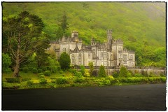 Kylemore Abbey Meets Driving Rain (eScapes Photo) Tags: ireland connemara kylemoreabbey collectionslideshow cvireland2012