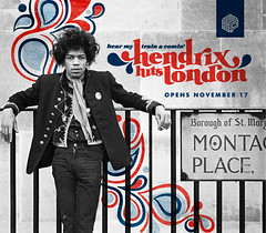 Hendrix Hits London (doublefelix) Tags: london logo photography design mod banner hendrix 1960s jimi