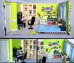 Bedroom (qu) Tags: door wood light house window lamp wall real carpet design bed bedroom chair floor lego desk furniture interior room large books collection plastic creation curtains boxes knob bookcase sets function diorama organized sorted moc foitsop