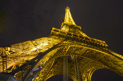 The Eiffel Tower at Night (WilliamMarlow) Tags: paris france tower eiffeltower eiffel parislights eiffeltowerlights midnightinparis d7000 nikond7000 france2012