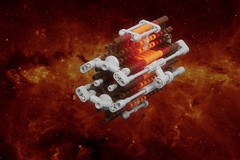 Resurrection Ship (pasukaru76) Tags: lego space battlestargalactica resurrection moc bsg cylons canon100mm resurrectionship microscale