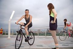 DSC_5087 (Ellen.B Chang ) Tags: light girl bike night bag nikon taiwan gear fixed taipei fggt d700