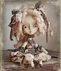 DASHA OOAK Art Doll (Odd Princess Dolls) Tags: art vintage doll princess handmade unique oneofakind ooak gothic victorian retro odd bjd collectible artdoll handmadedoll rjd  ooakdoll kukla paperclay papiermashe ooakbjd ribbonjointeddoll ribbonjointed oddprincess