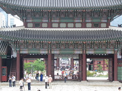 Back to the Entrance to the Grounds at Gyeongbokgung Palace -- Seoul, South Korea, July 2, 2012 (baseballoogie) Tags: palace seoul southkorea gyeongbokgung gyeongbokgungpalace 070212 canonpowershotsx30is baseball12