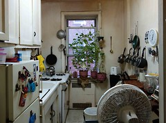 Center of the Universe (daisy70) Tags: clock window kitchen fan center pots stove refrigerator jul universe foresthills 2012 skillet centeroftheuniverse daisy70