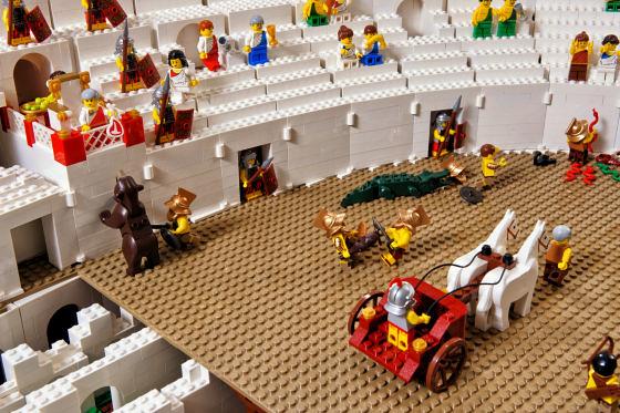 Ryan McNaught 製作的LEGO Colosseum 樂高競技場
