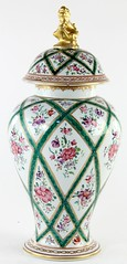 23. Samson Decorated Porcelain Covered Vase