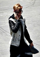 Justin Bieber. (JustinDrewBieber. ♥) Tags: new red hot cute sexy nerd boyfriend leather glasses amazing girlfriend call shoot phone album gorgeous adorable july jacket believe denim vest hq bandana talking beanie rapper swag musicvideo sweatpants 2012 onset featuring aslongasyouloveme 7612 allaroundtheworld selenagomez bigsean justinbieber