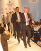 Sir Alex Ferguson Manchester United football manager and players pose on the catwalk during a Hublot Charity Dinner and Fashion Show event in aid of the MU Foundation at Shangri-La Hotel Shanghai, China