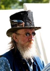 Old Man (S Cansfield) Tags: park old portrait man hat beard nikon war candid east civil american actor 70300mm reenactment vr kingstonuponhull d1x