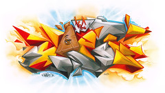 Uset - Koc (Youset) Tags: sky colour eye clouds pen pencils painting fire graffiti sketch 3d paint all pyramid derwent seeing 2d tone markers copic koc uset ironlak youset koccrew usetone