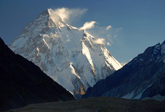 K2 (8611 m) at Sunrise, Karakorum (Oleg Bartunov) Tags: