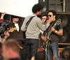 Lenny Kravitz on the set of a new Levi's commercial Prague, Czech Republic