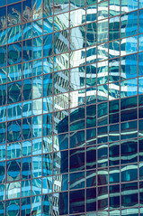 Mike Driscoll 2016 - Urban Waves (Michael Driscoll Jr.) Tags: blue turquoise abstract building skyscraper reflection glass steel linear ripples waves pools mirror architecture