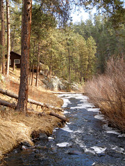 Cabin by the water (unforgivn1) Tags: custer sd south dakota county black hills rural america americana hazelrodt campground water cold cabin overlooking scenic cozy