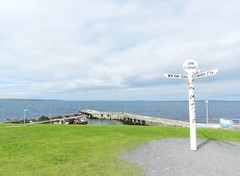 John O'Groats, Caithness, Sutherland, July 2016, Explored (allanmaciver) Tags: john ogroats caithness sutherland viewpoint signpost pier solid sturdy fishing cloudy pentland firth allanmaciver