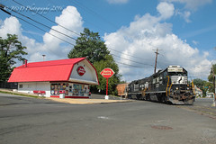 CSAO YPMO-R1 @ Morrisville, PA (Darryl Rule's Photography) Tags: august csao dq dairyqueen diesel diesels emd freight freighttrain local mixedfreight morrisville ns norfolksouthern ols operationlifesaver pa pennsylvania staley streetrunning summer sun train trains ympor1