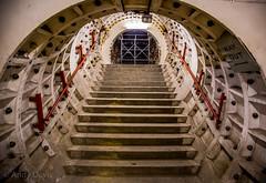 Stairs (cyberdavis) Tags: clapham claphamsouth claphamsouthdeepshelter deeplevelshelter hiddenlondon londonunderground shelter tfl tunnels underground ww2 worldwar2 canon canon5dmarkiii eos 5diii 5d 5dmarkiii wwii london stairs