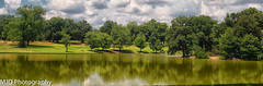 July Lake Scene 2 (mjdrhd) Tags: summer park water lake reflection sky clouds trees green nature