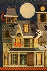 August 26 2016, Friday (interchangeableparts) Tags: mfboo kirkbradley halloween worksinprogress needlepoint