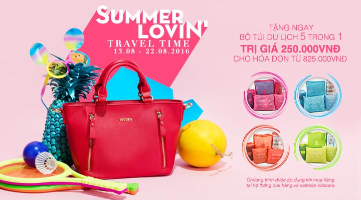 Vascara - Summer Lovin' - Travel time - Tặng bộ túi du lịch 5 trong 1 cho hóa đơn từ 825.000VNĐ