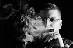 Royal Flush (matthasaname) Tags: people nikon d2xs cigar cigarportrait smoke smoker smoking selfportrait macanudo