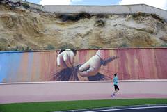 sport, landscape and graffiti-deporte, paisaje y graffiti_DSC9862-W (taocgs) Tags: graffiti sport deporte paisaje landscape gente people footing correr running corriendo cartagena espaa spain murcia