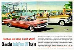 1959 Chevrolet Task-Force 59 Trucks (aldenjewell) Tags: 1959 chevrolet task force 59 trucks el camino apache fleetside pickup ad