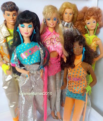 Barbie Diva Derek Dana DeeDee Ken Rockstar Rockers Dolls 1986 (ColeKenTurner) Tags: barbie ken diva dana deedee derek rockstar rockers dolls superstar 1986 aa asian friends old 80s glamour